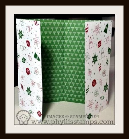 3 cardstock folded