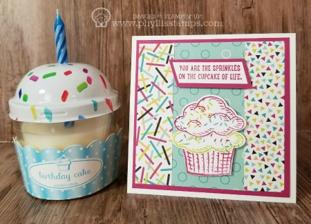 Cupcake Sprinkles Card & Candle - Sprinkles of Life
