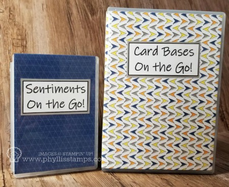 389.Sentiments & Card Bases on the Go Boxes